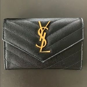 Saint Laurent Monogram Quilted French Wallet
